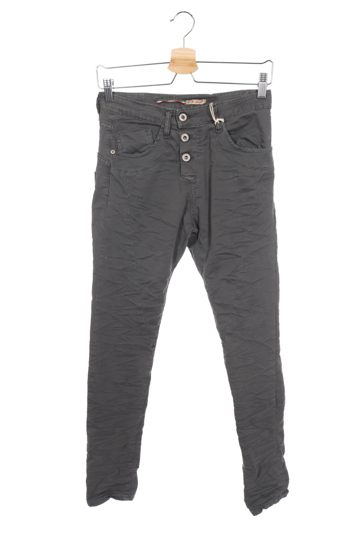 Дамски дънки Please, Размер XXS, Цвят Сив, 98% памук, 2% еластан, Цена 12,72лв.