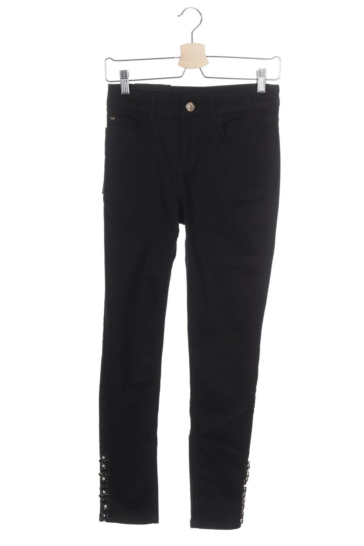 Дамски дънки TWINSET, Размер S, Цвят Черен, 75% памук, 16% лиосел, 6% полиестер, 3% еластан, Цена 33,80лв.