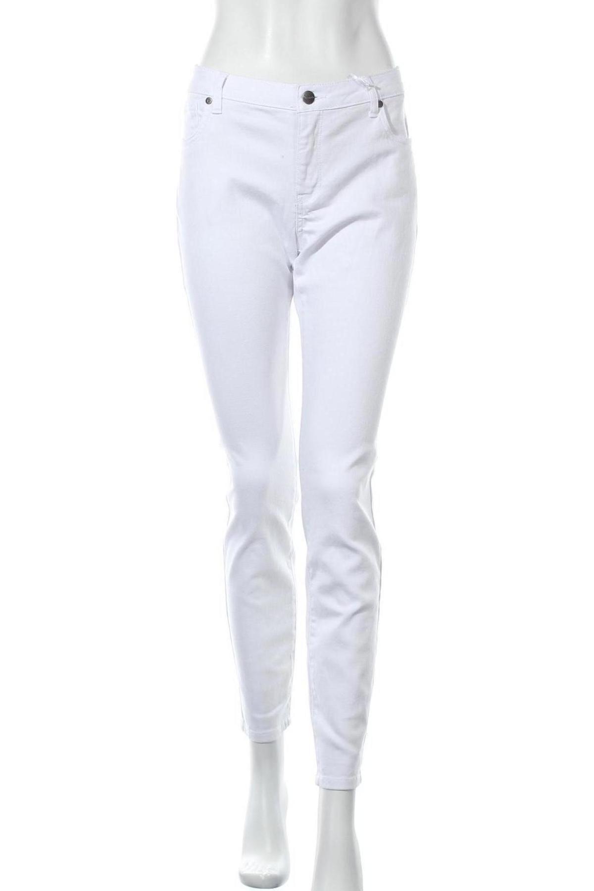 Дамски дънки Tamaris, Размер L, Цвят Бял, 98% памук, 2% еластан, Цена 51,75лв.