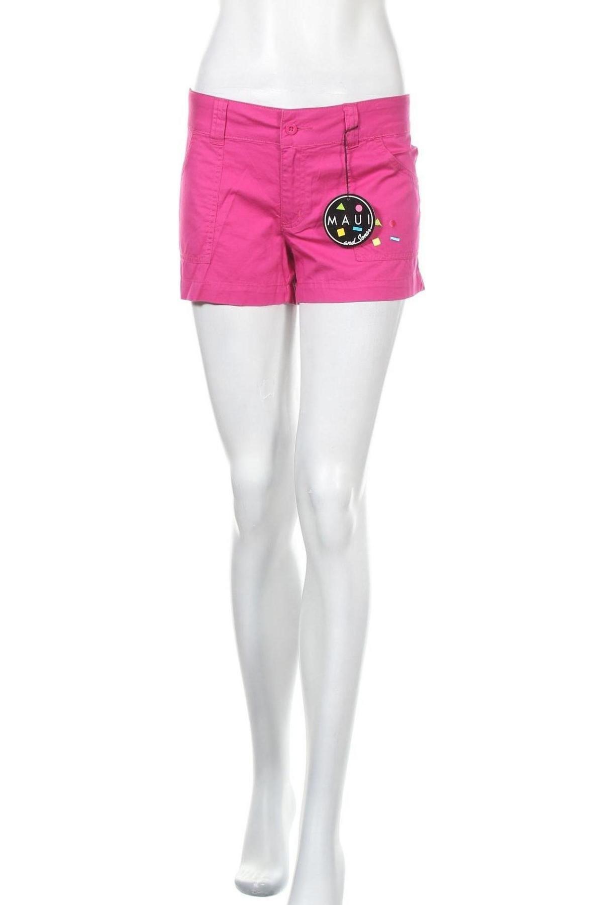 Γυναικείο κοντό παντελόνι Maui And Sons, Μέγεθος L, Χρώμα Ρόζ , Βαμβάκι, Τιμή 12,99€