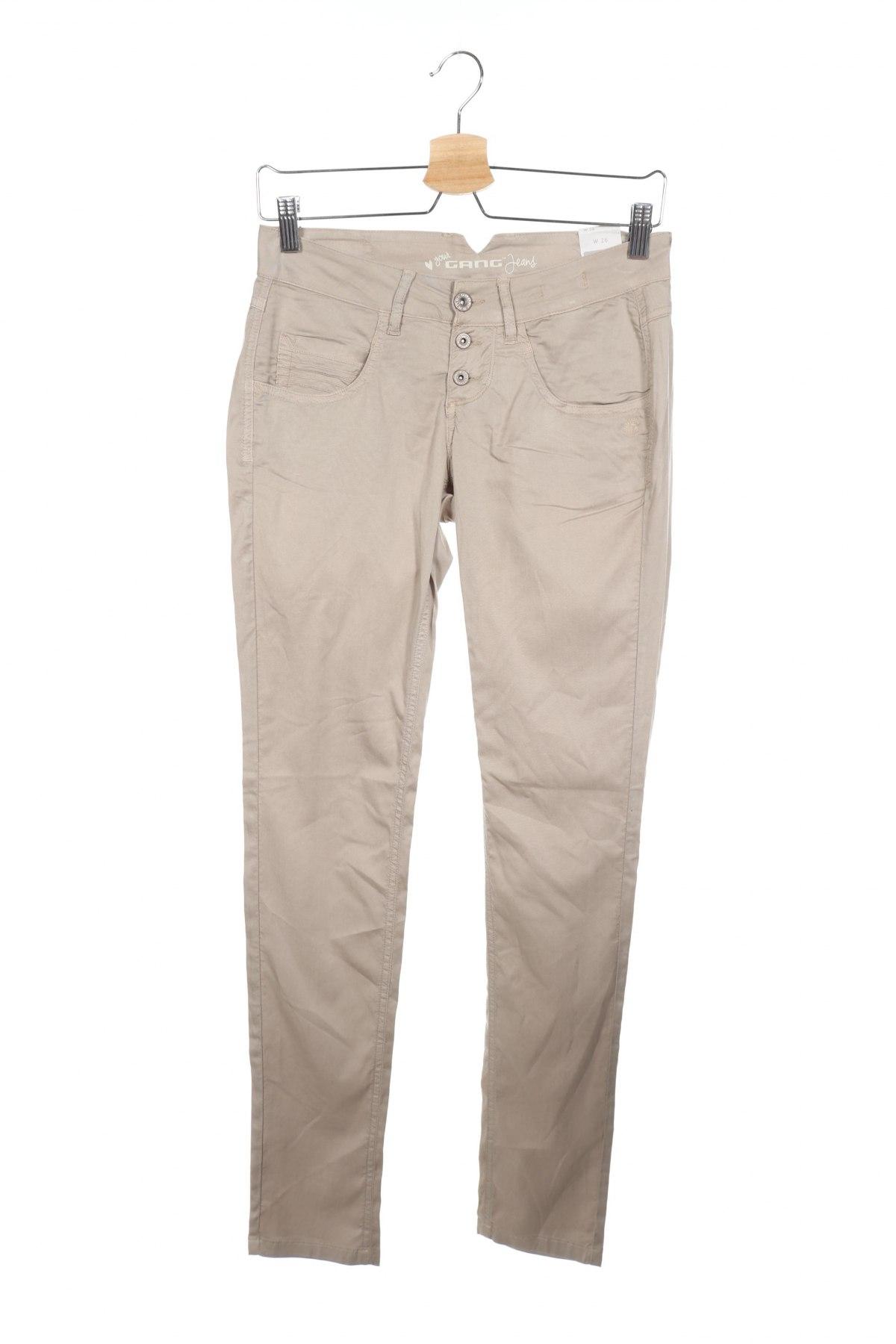 Дамски панталон Gang, Размер XS, Цвят Бежов, 98% лиосел, 2% еластан, Цена 12,72лв.