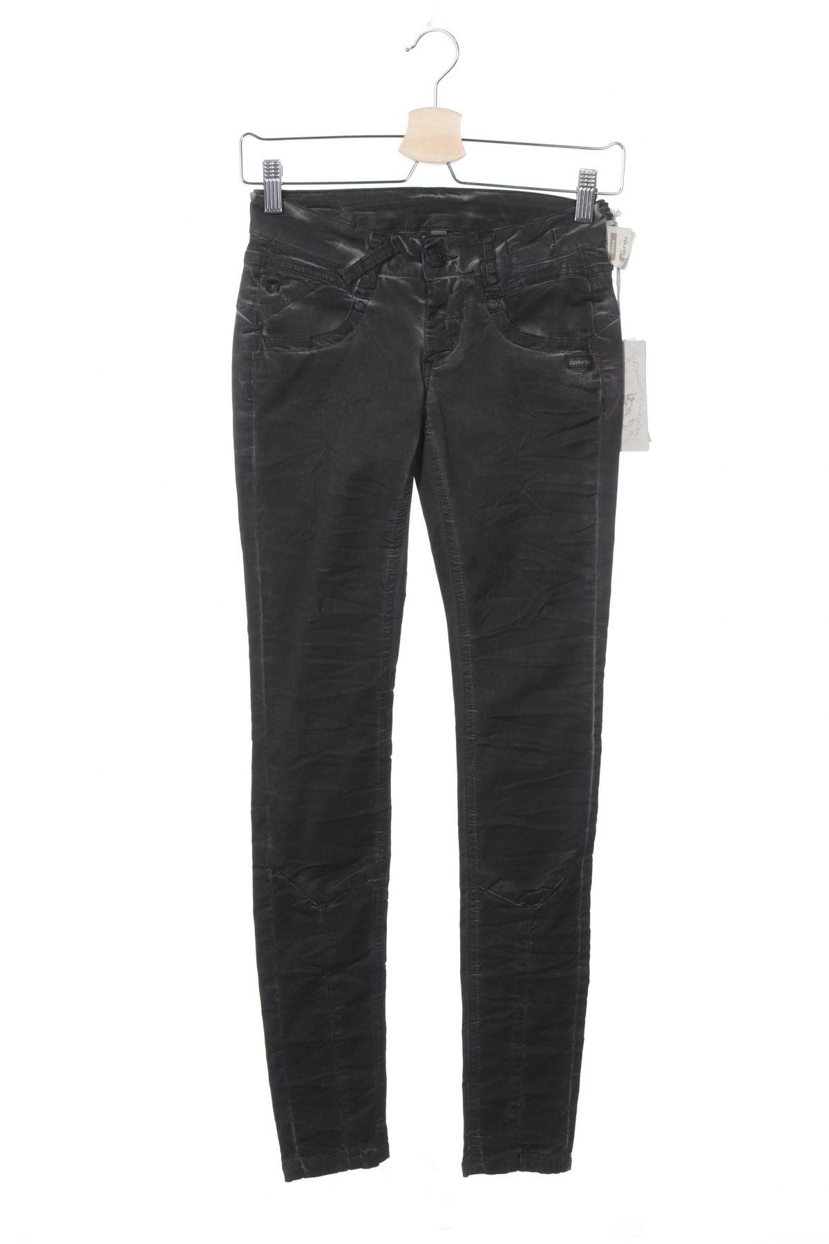Дамски панталон Gang, Размер XXS, Цвят Сив, 60% лиосел, 38% памук, 2% еластан, Цена 12,72лв.