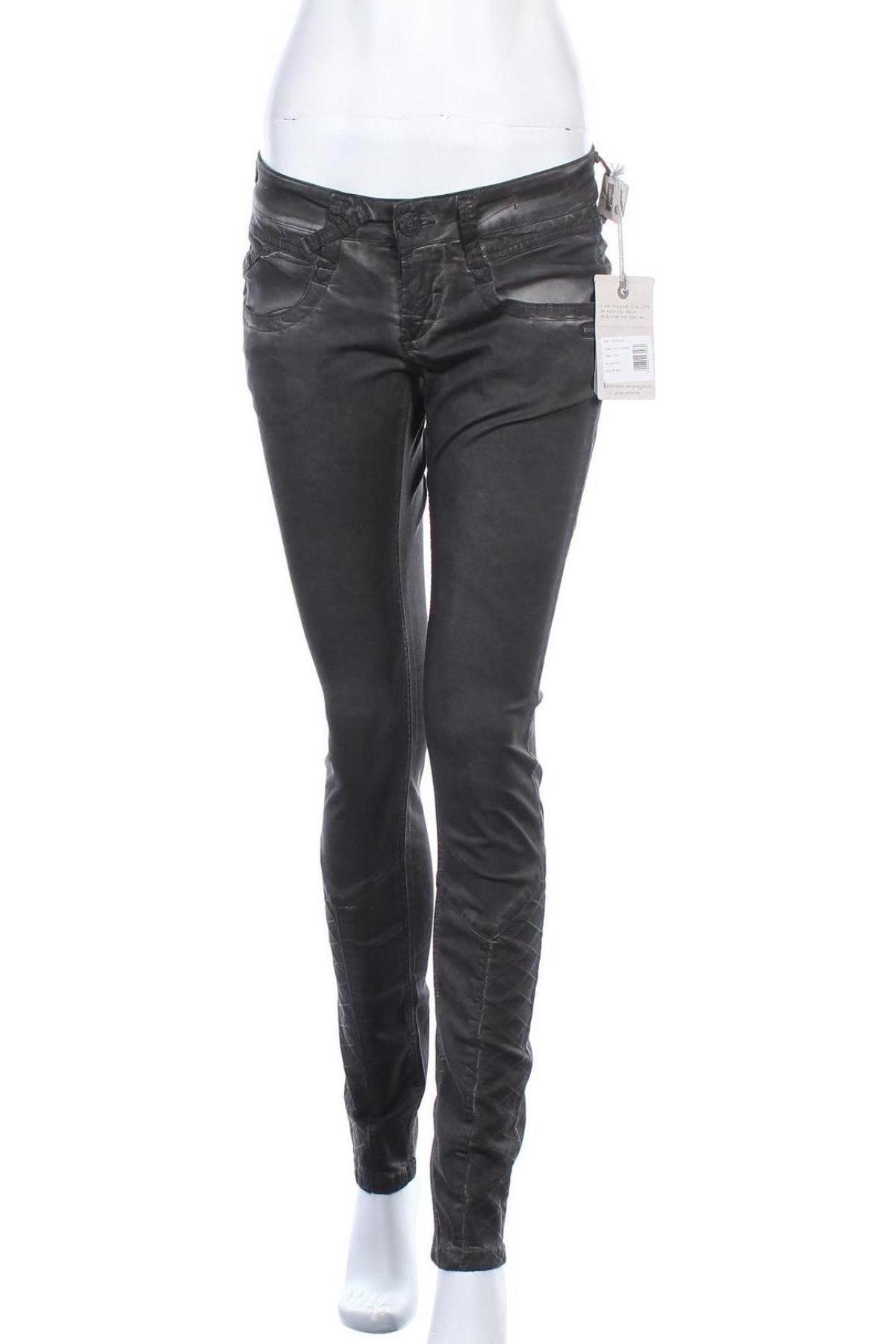 Дамски панталон Gang, Размер M, Цвят Сив, 60% лиосел, 38% памук, 2% еластан, Цена 12,72лв.