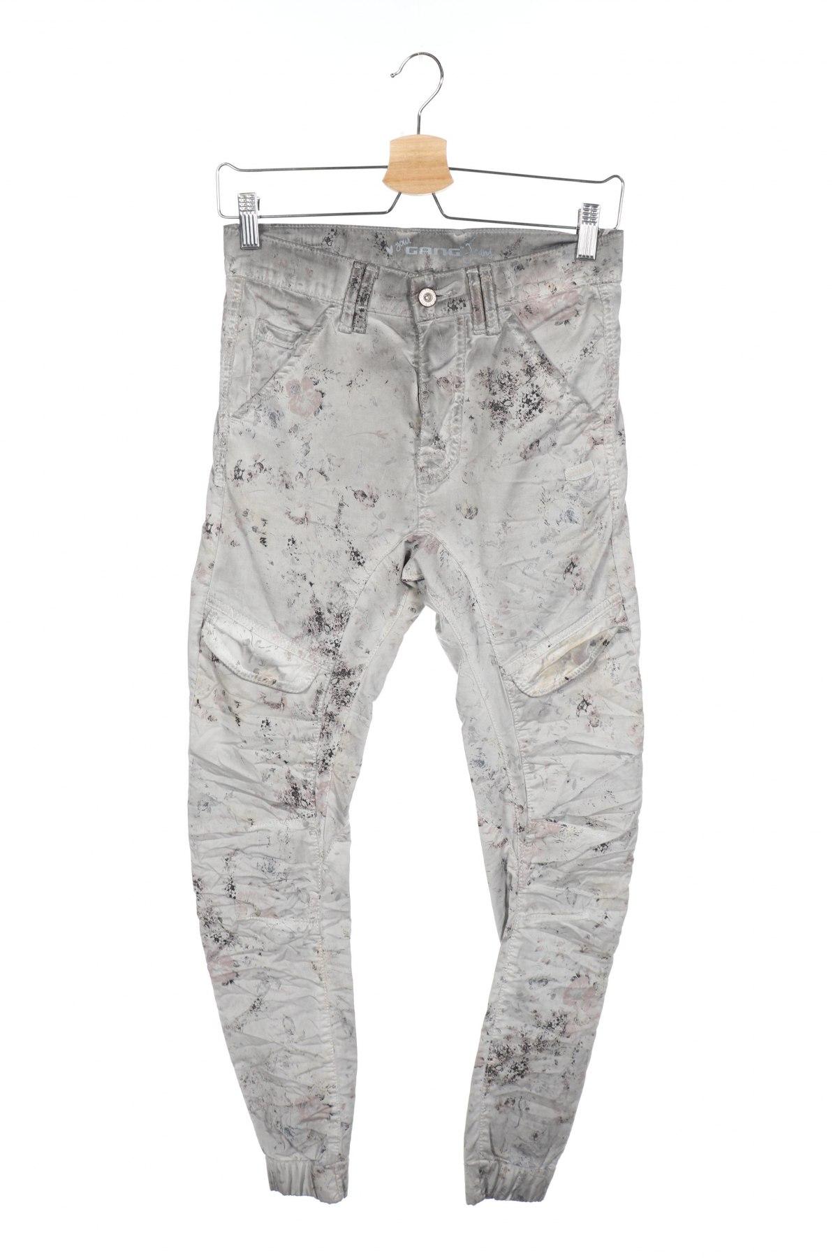 Дамски панталон Gang, Размер XS, Цвят Сив, 97% памук, 3% еластан, Цена 12,72лв.