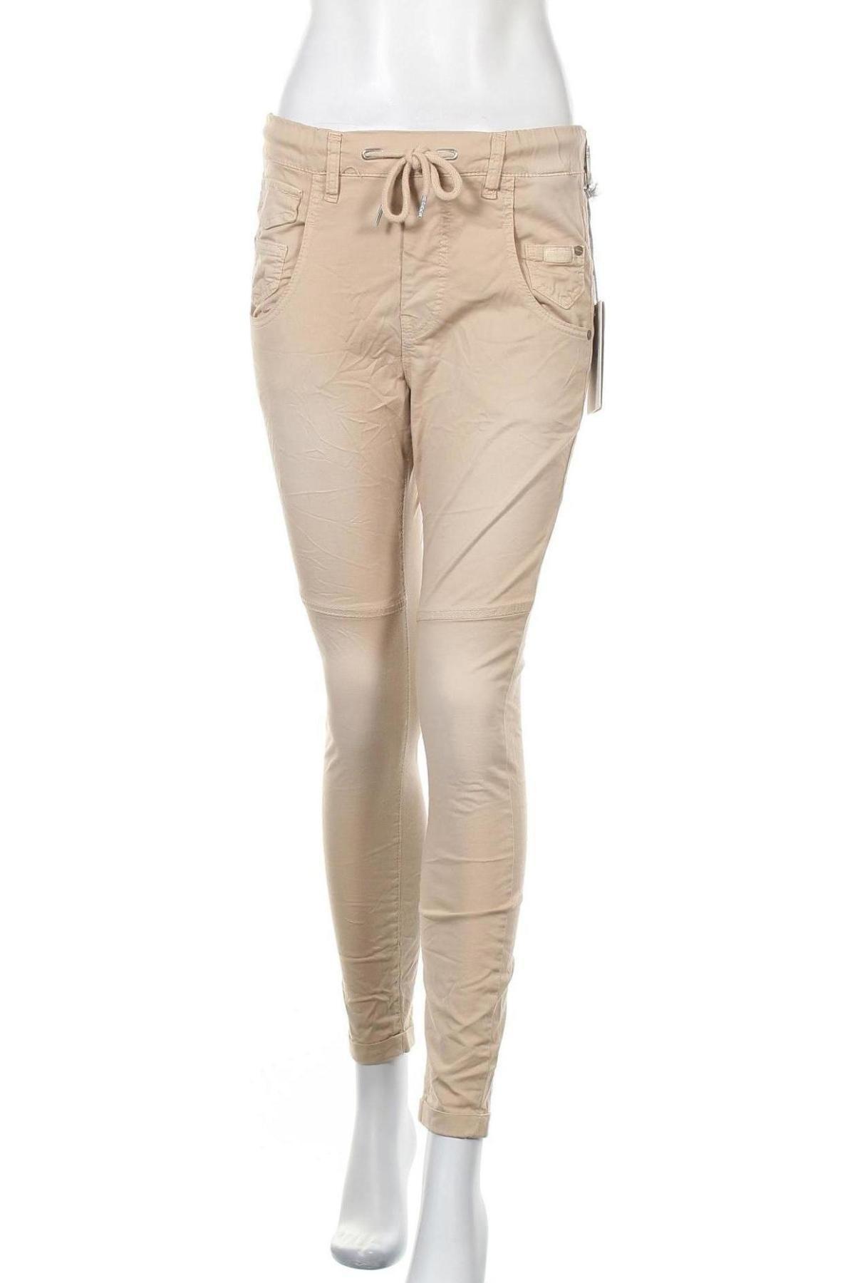 Дамски панталон Gang, Размер S, Цвят Бежов, 97% памук, 3% еластан, Цена 28,62лв.
