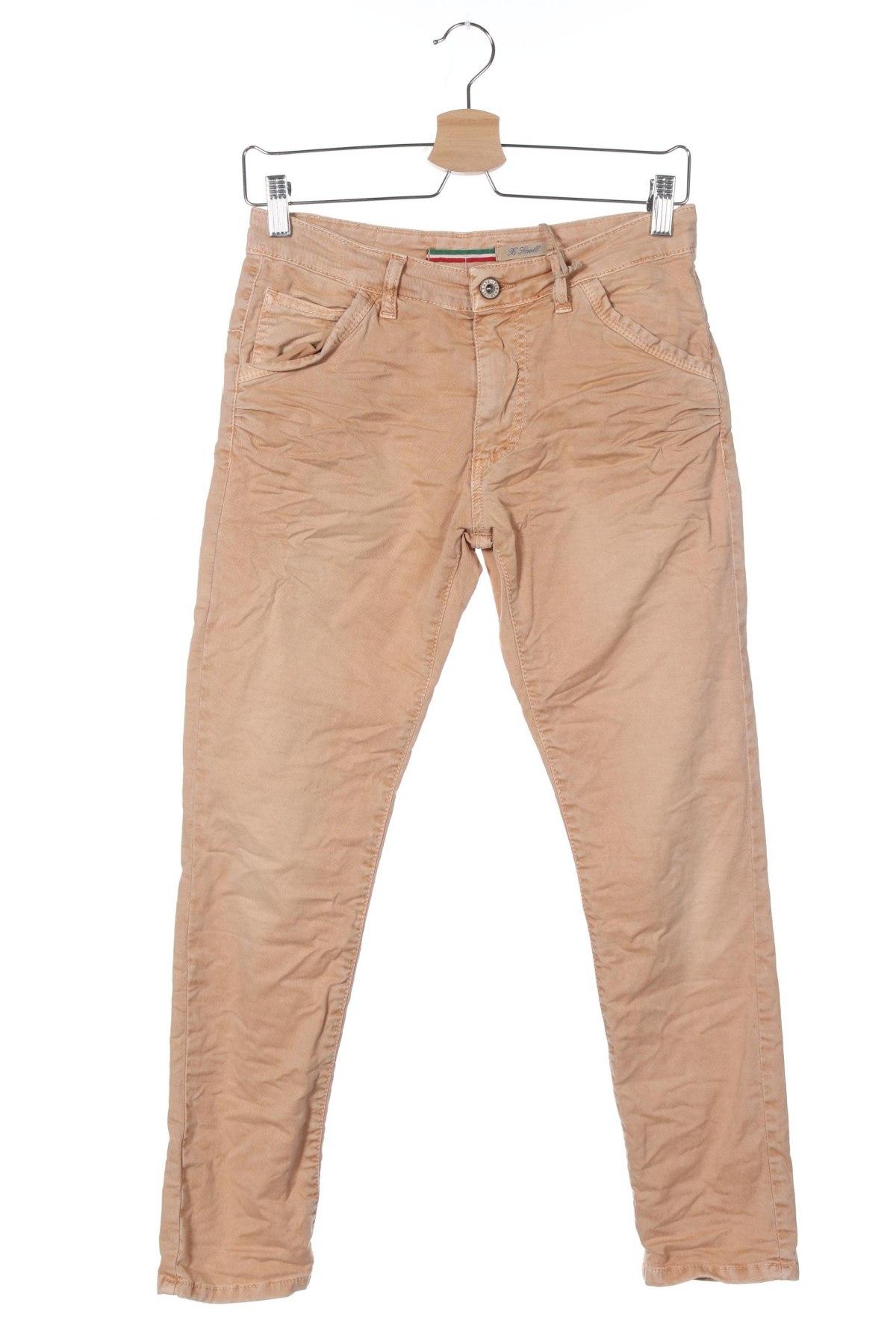 Дамски панталон Please, Размер XS, Цвят Оранжев, 98% памук, 2% еластан, Цена 19,08лв.