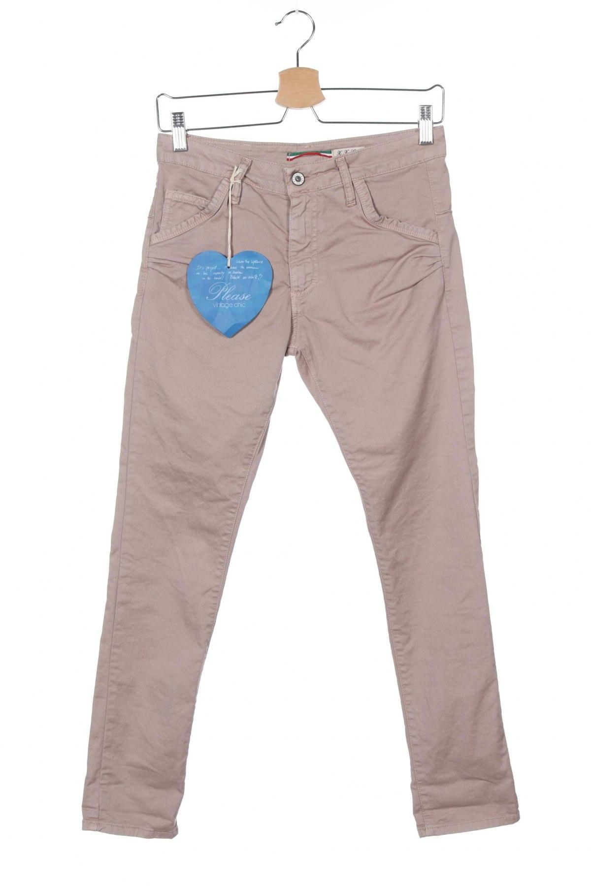 Дамски панталон Please, Размер XXS, Цвят Пепел от рози, 98% памук, 2% еластан, Цена 23,85лв.