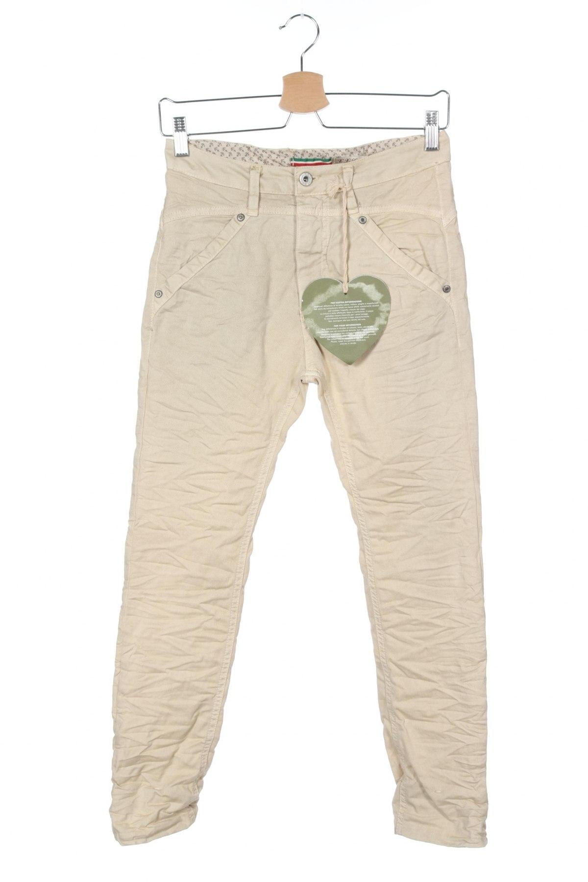Дамски панталон Please, Размер XXS, Цвят Екрю, 97% памук, 3% еластан, Цена 15,90лв.