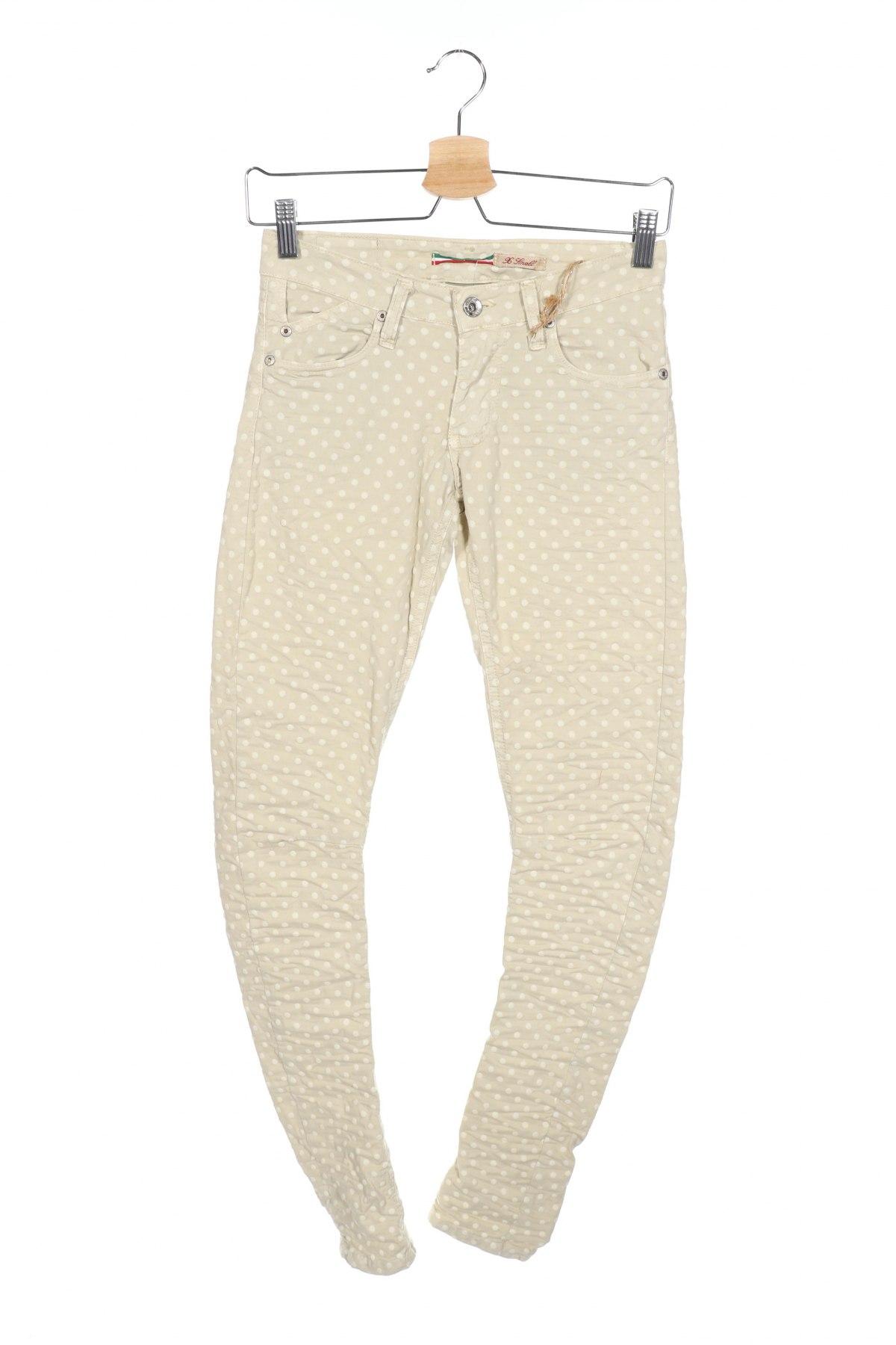 Дамски панталон Please, Размер XS, Цвят Бежов, 98% памук, 2% еластан, Цена 13,52лв.
