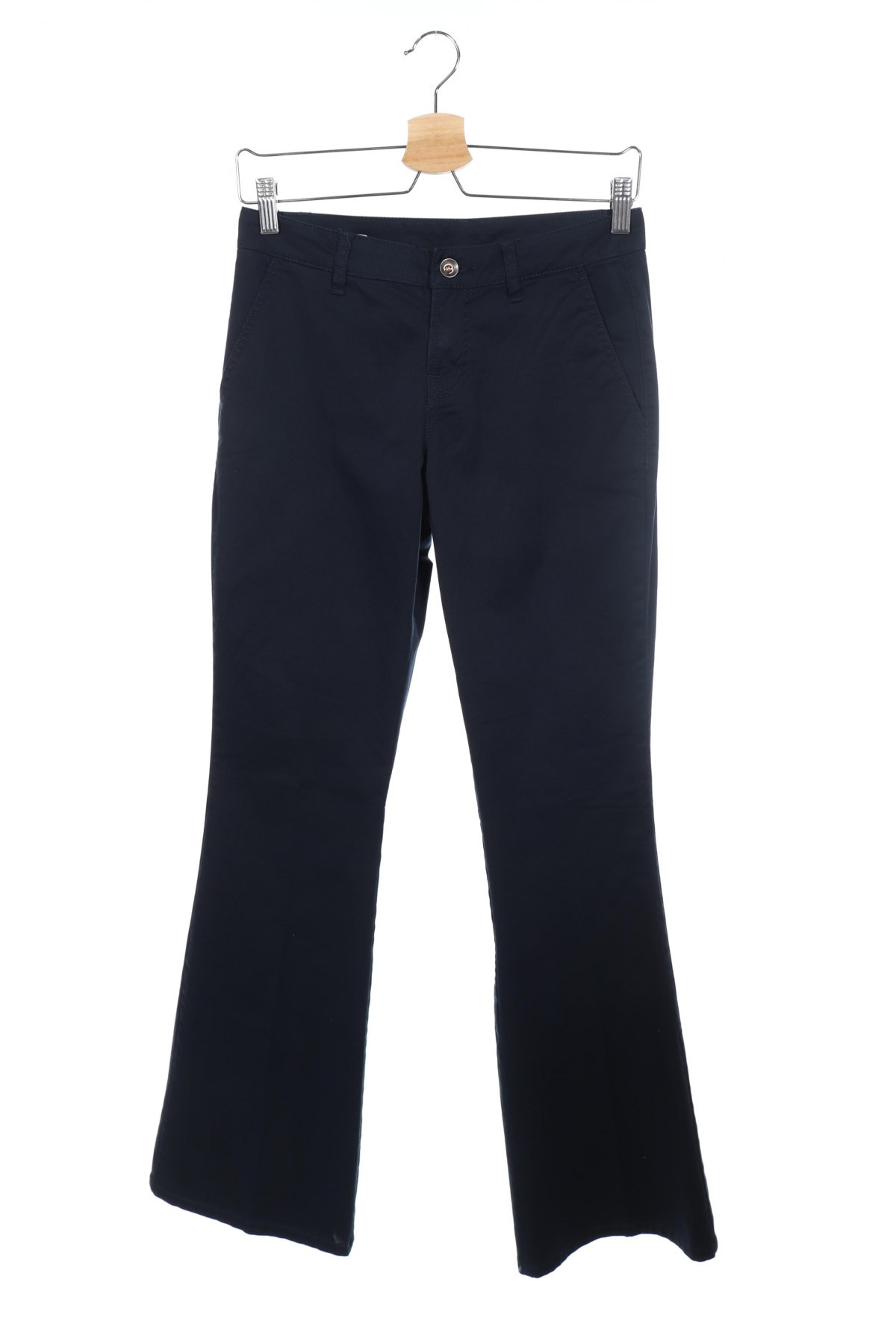 Дамски панталон United Colors Of Benetton, Размер XS, Цвят Син, 98% памук, 2% еластан, Цена 22,25лв.