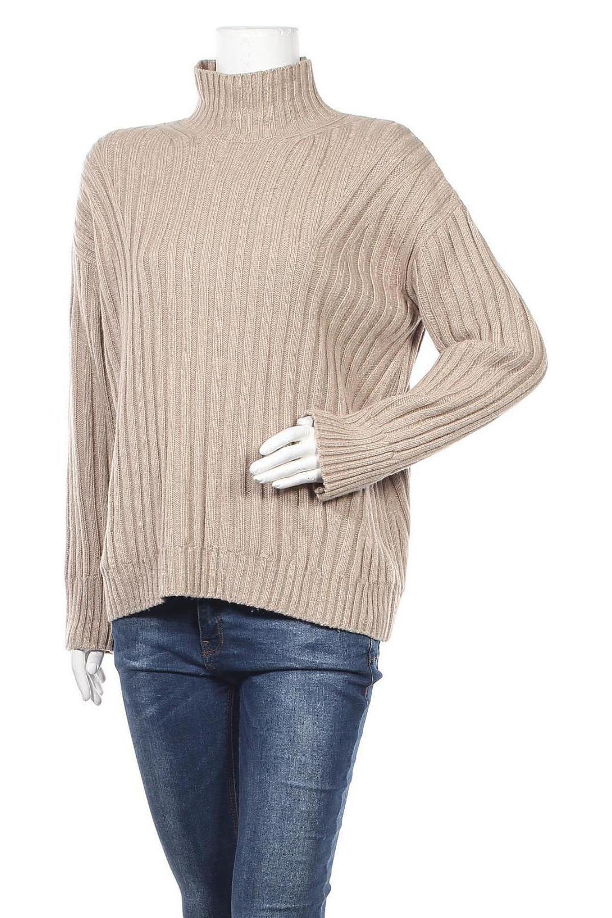 Γυναικείο πουλόβερ Massimo Dutti, Μέγεθος M, Χρώμα  Μπέζ, 36% πολυαμίδη, 31% μαλλί, 29% βισκόζη, 4% κασμίρι, Τιμή 35,57€