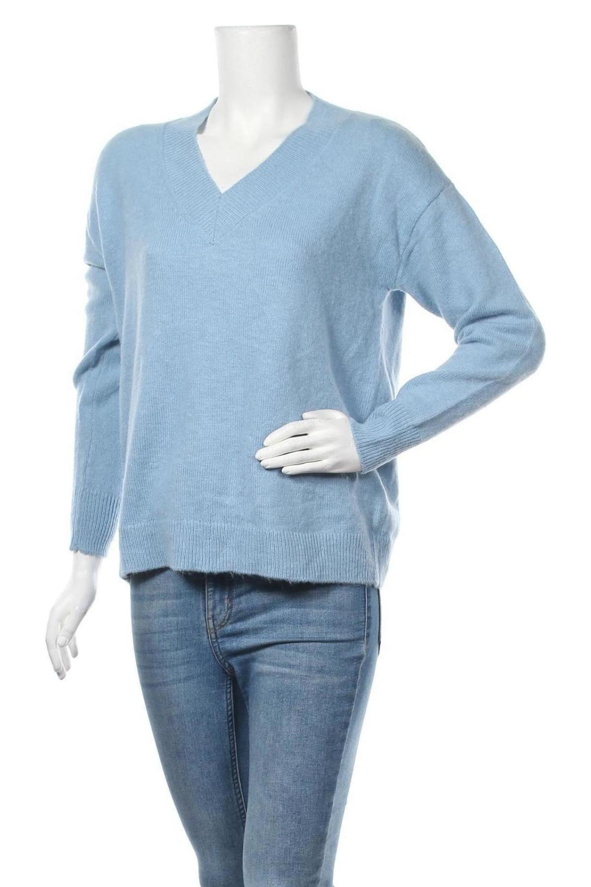 Γυναικείο πουλόβερ Massimo Dutti, Μέγεθος M, Χρώμα Μπλέ, 49% πολυαμίδη, 24% μαλλί, 17%ακρυλικό, 10% μαλλί, Τιμή 36,34€