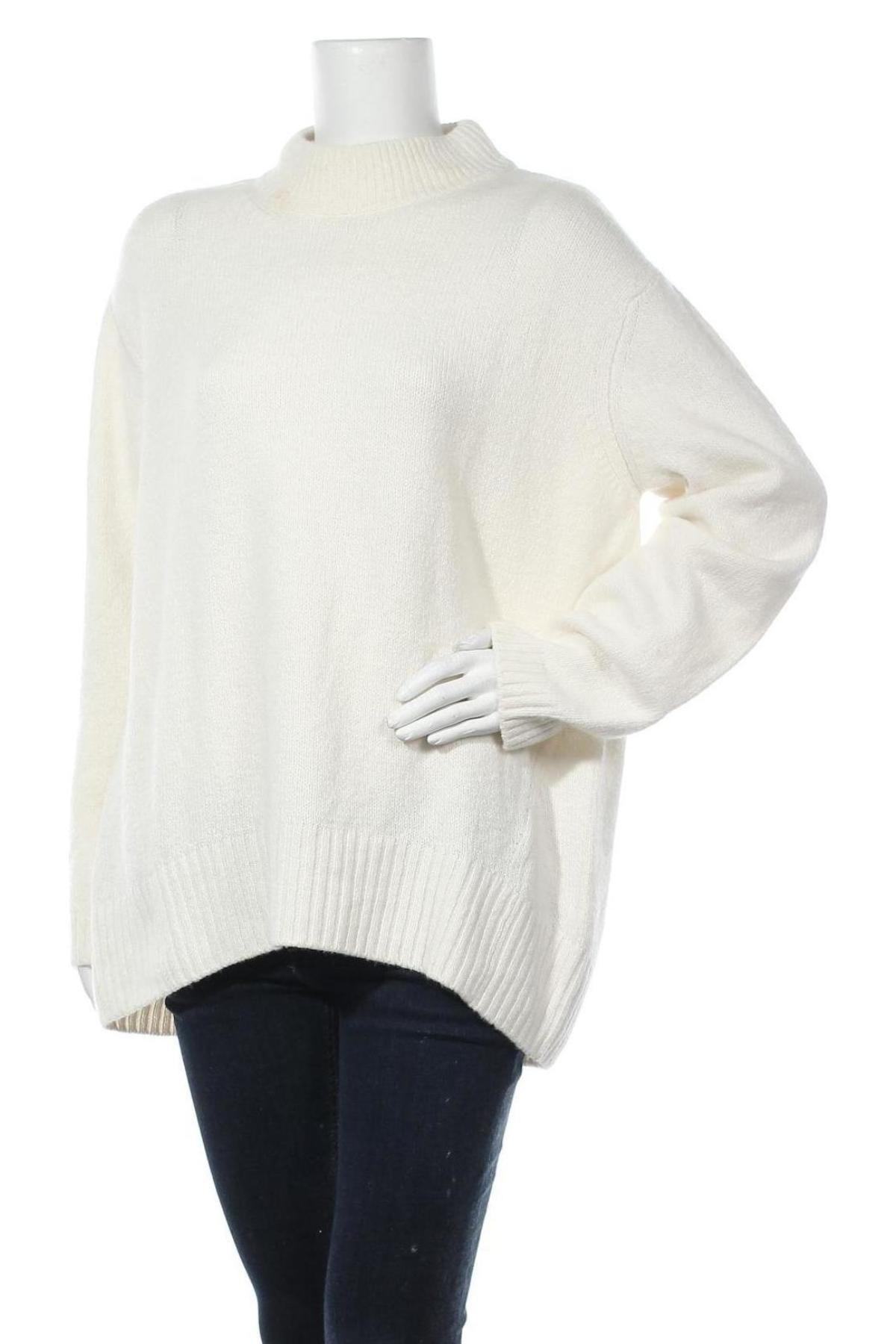 Γυναικείο πουλόβερ Massimo Dutti, Μέγεθος L, Χρώμα Εκρού, 37% πολυαμίδη, 26% μαλλί, 22% βισκόζη, 11%ακρυλικό, 3% κασμίρι, Τιμή 14,84€