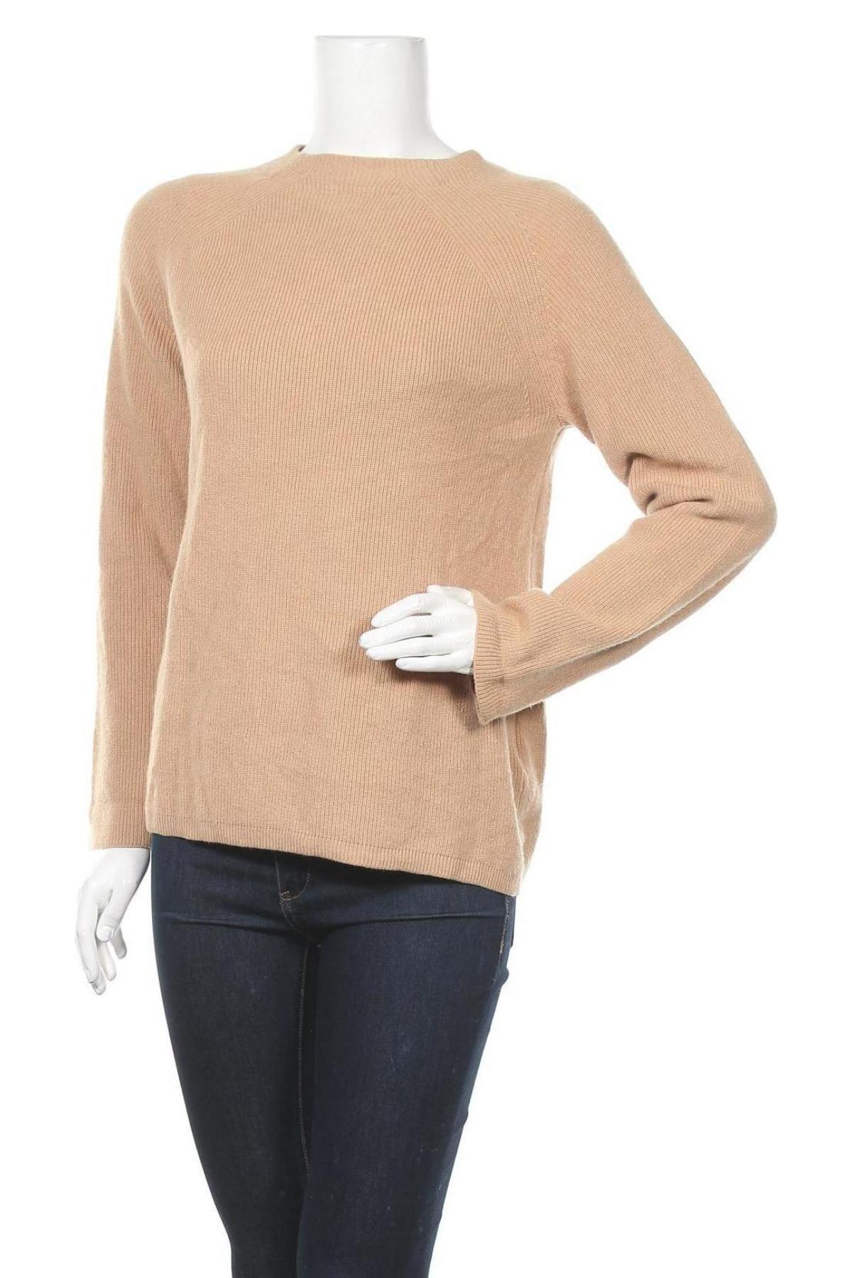 Γυναικείο πουλόβερ Massimo Dutti, Μέγεθος M, Χρώμα  Μπέζ, 50% μαλλί, 28% βισκόζη, 18% πολυαμίδη, 4% κασμίρι, Τιμή 35,57€