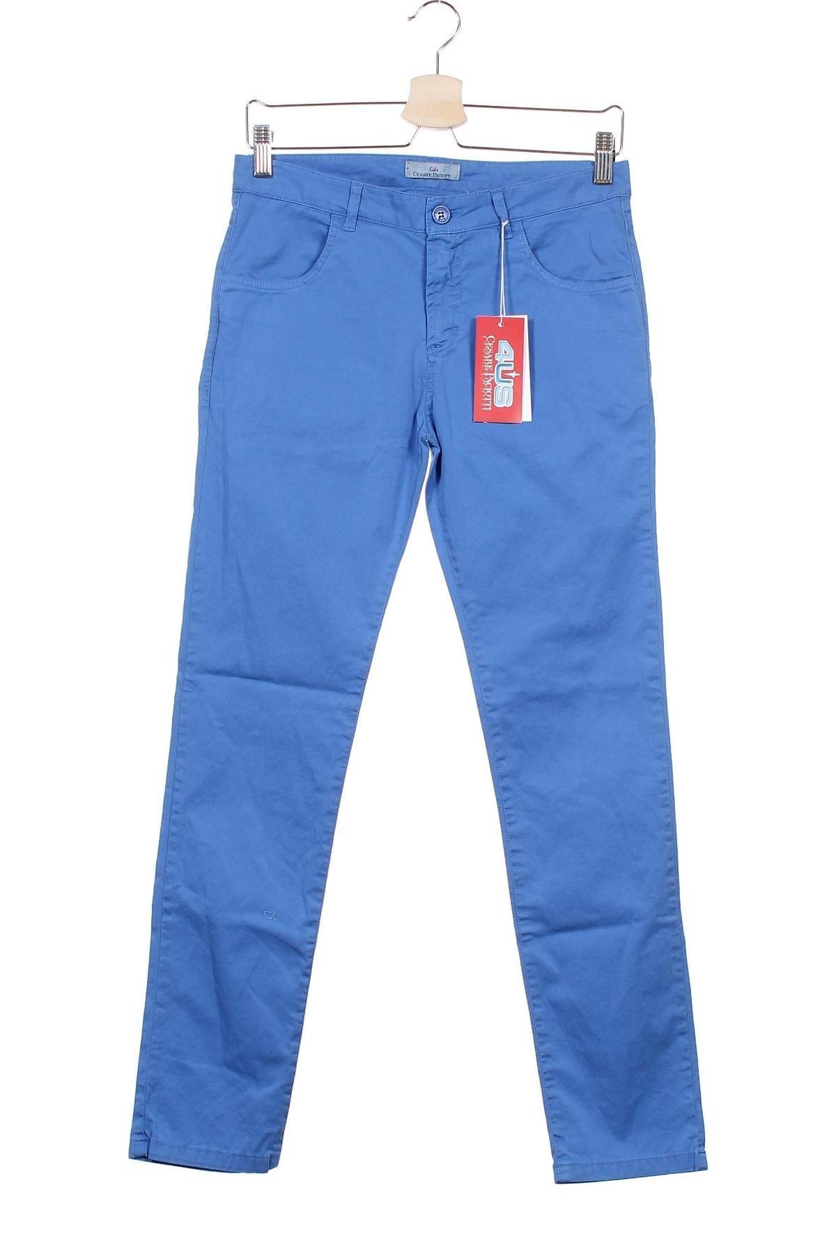 Dětské kalhoty  Cesare Paciotti 4US, Velikost 13-14y/ 164-168 cm, Barva Modrá, 97% bavlna, 3% elastan, Cena  1391,00Kč