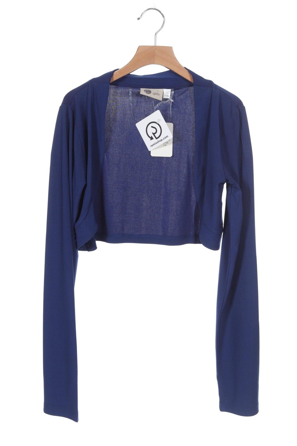 Bolero pentru copii, Mărime 15-18y/ 170-176 cm, Culoare Albastru, 96% poliester, 4% elastan, Preț 96,22 Lei