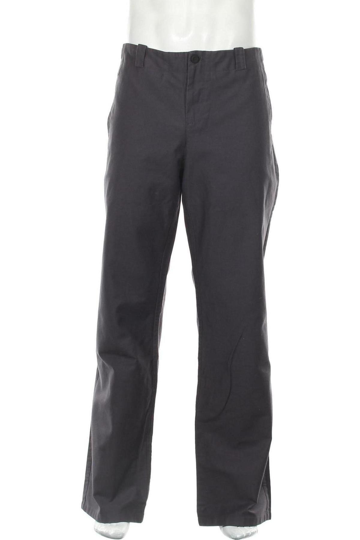 Pantaloni de bărbați Hannes Roether, Mărime XL, Culoare Gri, Bumbac, Preț 392,27 Lei