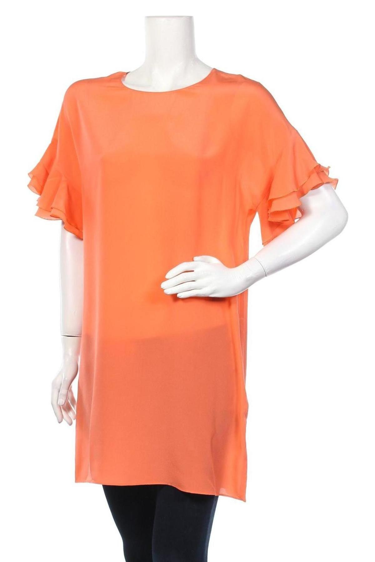 Τουνίκ TWINSET, Μέγεθος S, Χρώμα Πορτοκαλί, Μετάξι, Τιμή 66,56€