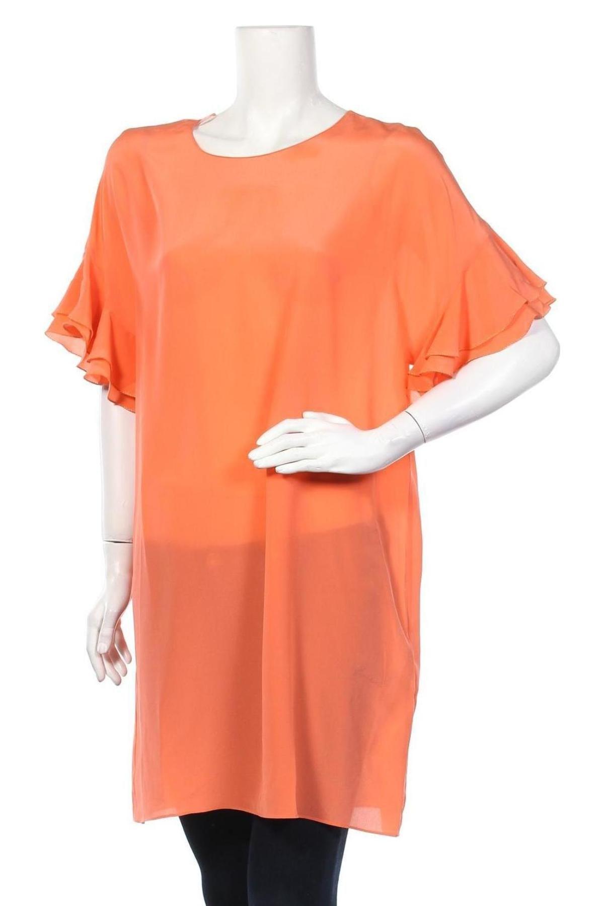 Τουνίκ TWINSET, Μέγεθος M, Χρώμα Πορτοκαλί, Μετάξι, Τιμή 66,56€