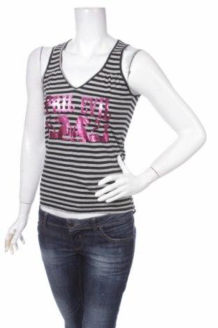 Γυναικείο αμάνικο μπλουζάκι April Evil, Μέγεθος S, Χρώμα Γκρί, 94% βαμβάκι, 6% πολυεστέρας, Τιμή 1,73€