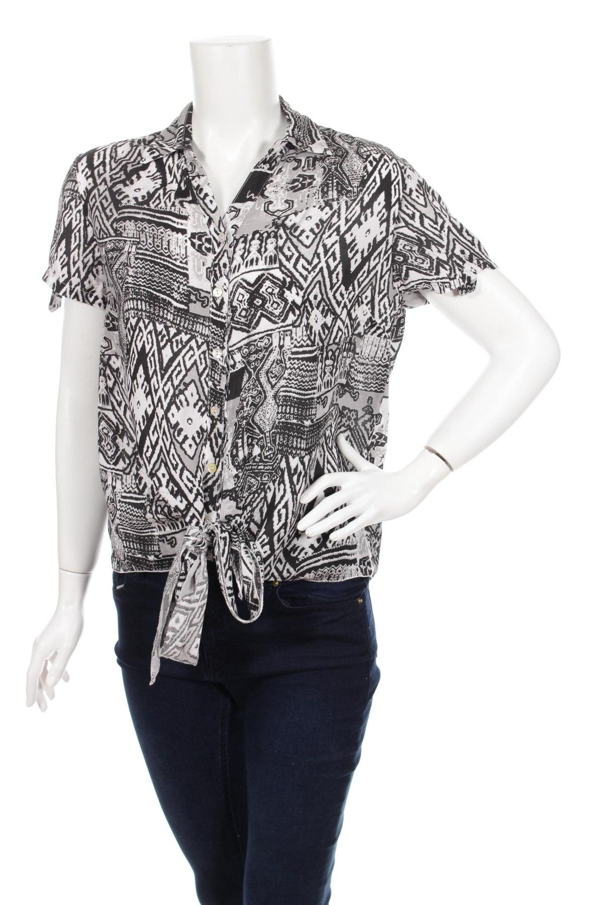 Γυναικείο πουκάμισο Driver, Μέγεθος M, Χρώμα Μαύρο, 100% βισκόζη, Τιμή 11,13€
