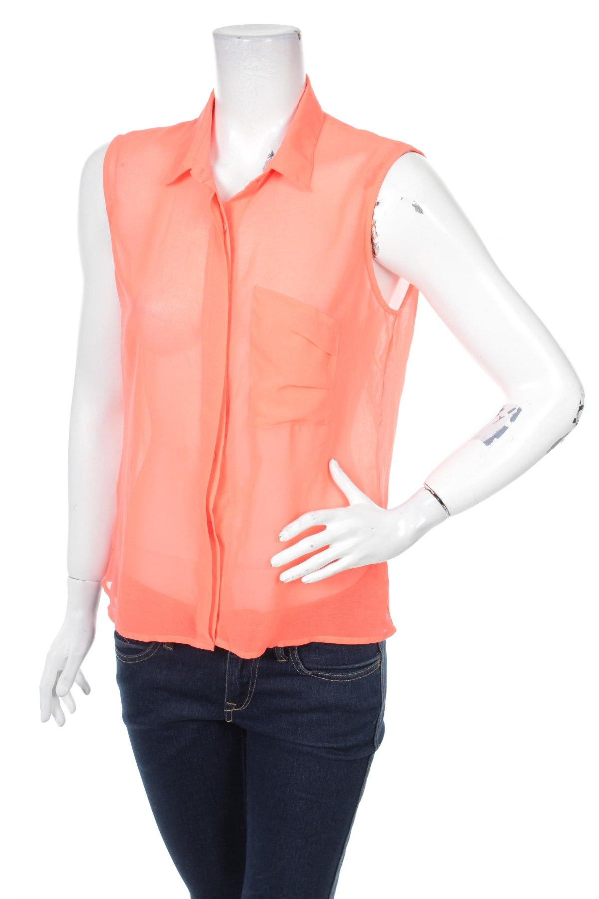 Γυναικείο πουκάμισο Gina Tricot, Μέγεθος M, Χρώμα Πορτοκαλί, Τιμή 11,13€