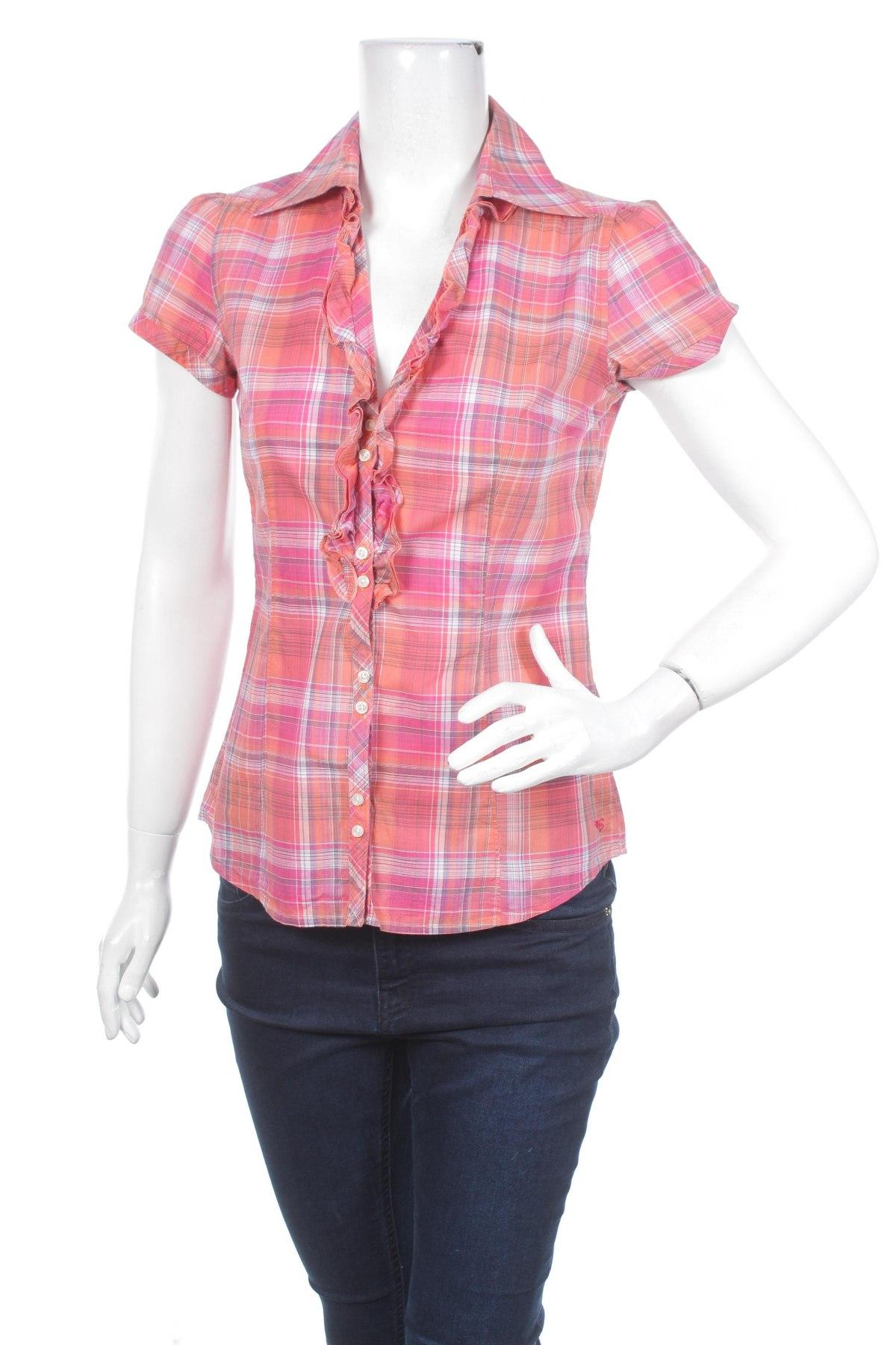 Γυναικείο πουκάμισο Esprit, Μέγεθος XS, Χρώμα Πολύχρωμο, Βαμβάκι, Τιμή 9,90€