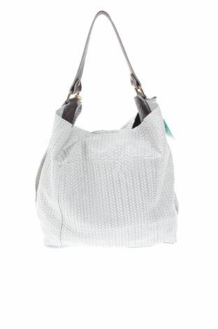 Γυναικεία τσάντα Anna Morellini, Χρώμα Γκρί, Γνήσιο δέρμα, Τιμή 162,84€