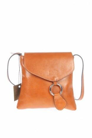 Γυναικεία τσάντα Lia Biassoni, Χρώμα Καφέ, Γνήσιο δέρμα, Τιμή 160,02€