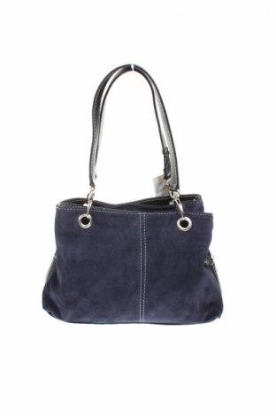 Γυναικεία τσάντα Roberta Rossi, Χρώμα Μπλέ, Φυσικό σουέτ, δερματίνη, Τιμή 63,52€