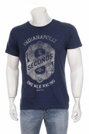 Tricou de bărbați Esprit, Mărime L, Culoare Albastru, Bumbac, Preț 47,60 Lei