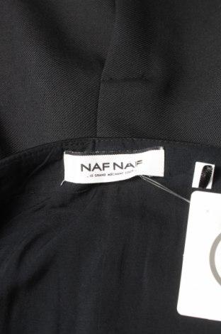 Пола Naf Naf, Размер S, Цвят Черен, 64% полиестер, 34% вискоза, 2% еластан, еко кожа, Цена 11,04лв.