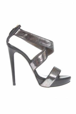 Sandály  Just Cavalli, Veľkosť 38, Farba Strieborná, Pravá koža , Cena  142,53€