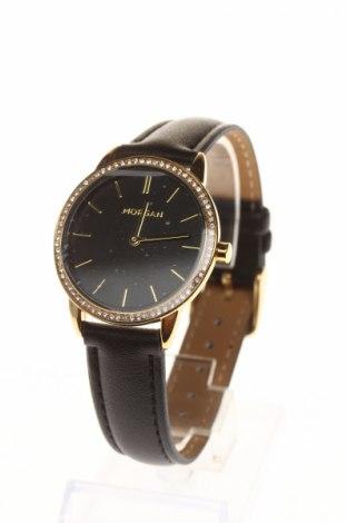 Ρολόι Morgan, Χρώμα Μαύρο, Δερματίνη, μέταλλο, Τιμή 16,62€