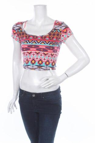 Дамска блуза Ambiance Apparel, Размер S, Цвят Многоцветен, 95% памук, 5% еластан, Цена 4,75лв.