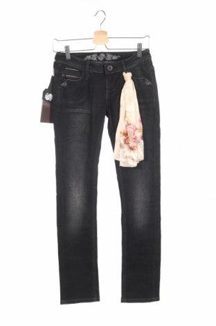 Γυναικείο Τζίν Bandits Du Monde, Μέγεθος XS, Χρώμα Μαύρο, 99% βαμβάκι, 1% ελαστάνη, Τιμή 19,70€