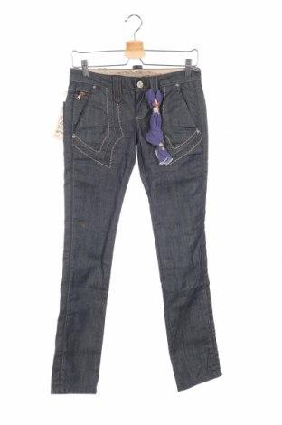 Дамски дънки Bandits Du Monde, Размер XS, Цвят Син, 98% памук, 2% еластан, Цена 22,96лв.