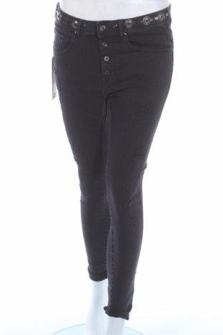 Blugi de femei Kaporal, Mărime M, Culoare Gri, 98% bumbac, 2% elastan, Preț 58,42 Lei