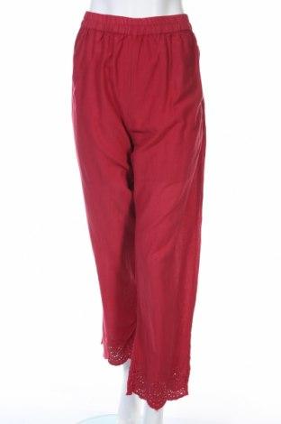 Дамски панталон Ada Gatti, Размер L, Цвят Червен, Вискоза, Цена 19,60лв.