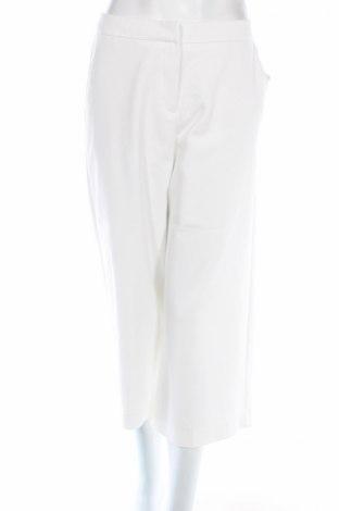 Дамски панталон Adrienne Vittadini, Размер L, Цвят Бял, 53% памук, 43% полиестер, 4% еластан, Цена 28,60лв.
