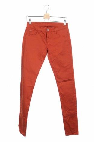 Дамски панталон Le Temps Des Cerises, Размер XS, Цвят Оранжев, 97% памук, 3% еластан, Цена 35,28лв.