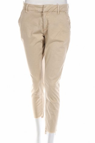 Pantaloni de femei Q/S by S.Oliver, Mărime S, Culoare Bej, 98% bumbac, 2% elastan, Preț 41,76 Lei