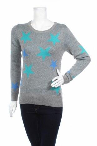 Дамски пуловер Ajc, Размер XS, Цвят Сив, 50% памук, 50% акрил, Цена 19,14лв.