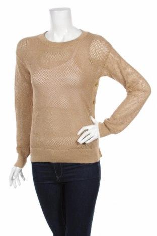 Дамски пуловер Michael Kors, Размер S, Цвят Бежов, 52% памук, 26% акрил, 15% полиестер, 7% метални нишки, Цена 21,00лв.