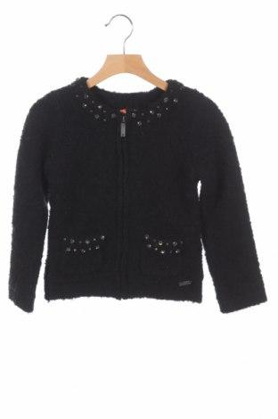 Dziecięcy kardigan Pepe Jeans, Rozmiar 4-5y/ 110-116 cm, Kolor Czarny, 62%akryl, 25% wełna, 13% poliamid, Cena 118,18zł