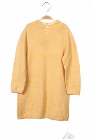 Dětský svetr , Rozměr 7-8y/ 128-134 cm, Barva Žlutá, Akryl , Cena  461,00Kč
