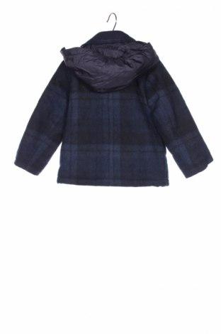 Детско палто Jacadi, Размер 2-3y/ 98-104 см, Цвят Син, 60% вълна, 35% полиестер, 5% полиамид, Цена 79,00лв.
