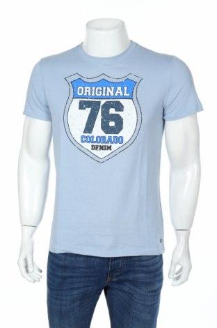 Tricou de bărbați Colorado, Mărime M, Culoare Albastru, Bumbac, Preț 42,63 Lei
