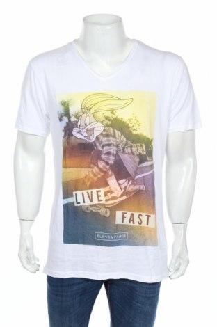 Мъжка тениска Eleven Paris, Размер XL, Цвят Бял, 50% памук, 50% модал, Цена 37,92лв.