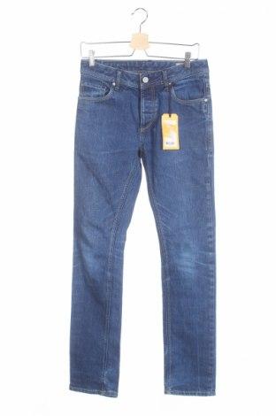 Мъжки дънки Jack & Jones, Размер S, Цвят Син, 99% памук, 1% еластан, Цена 27,95лв.